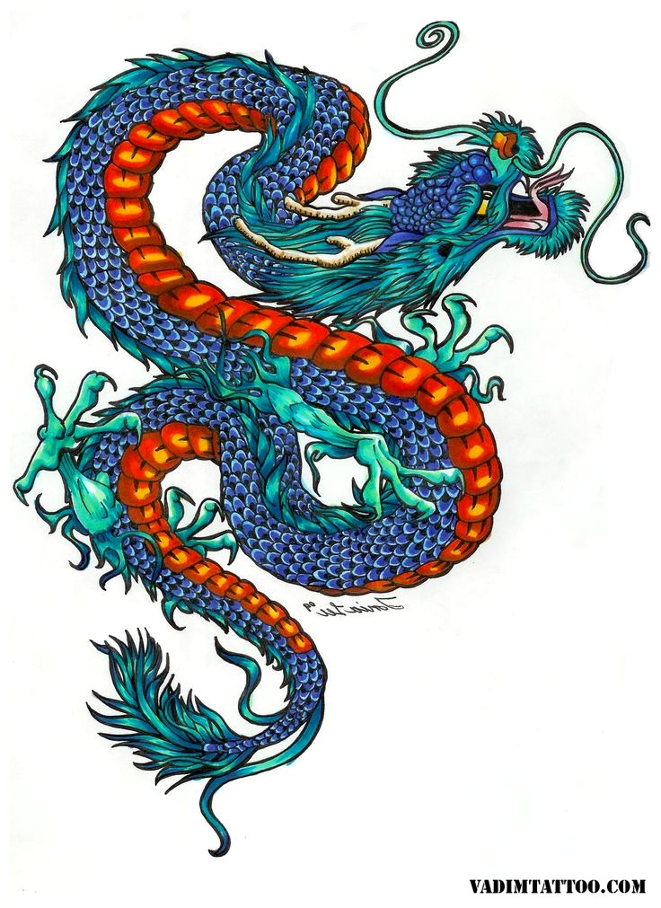 736x1011 45 Chinese Dragon Tattoo Designs And Meanings