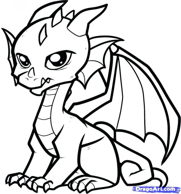 618x664 Coloring Captivating Picture A Dragon To Color. Picture