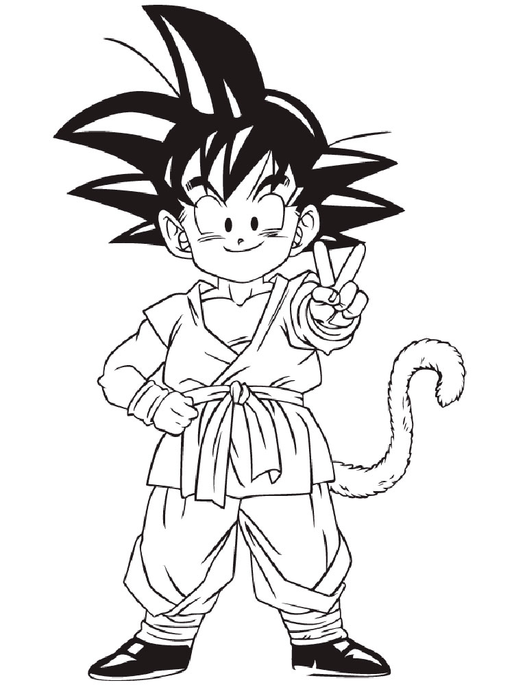 750x1000 Dragon Ball Z Coloring Pages. Download And Print Dragon Ball Z