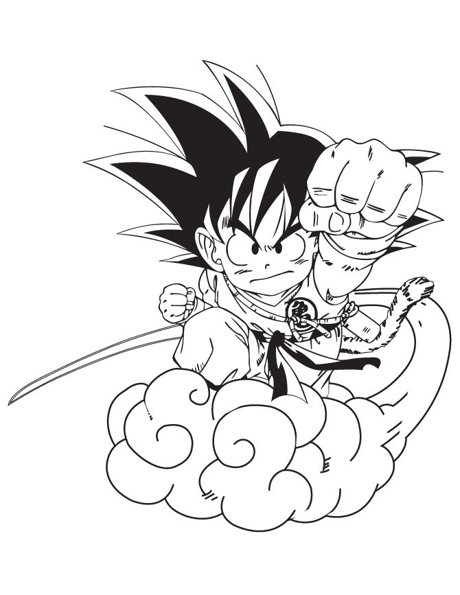 670x867 Free Printable Dragon Ball Z Coloring Pages H Amp M