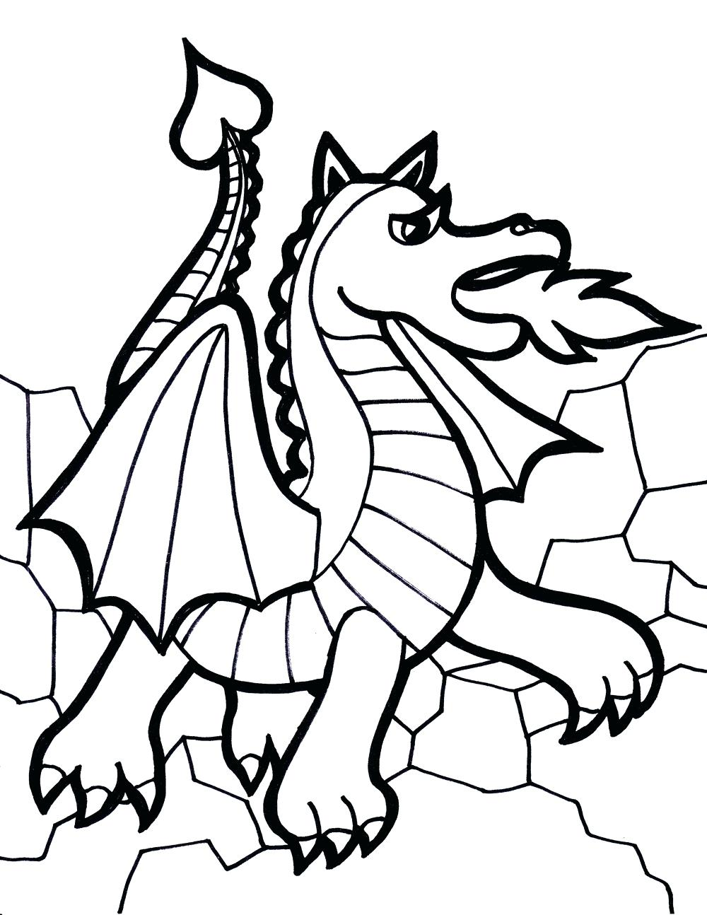 1000x1294 Printable Dragon Coloring Pages 121 Excellent Pictures To Color