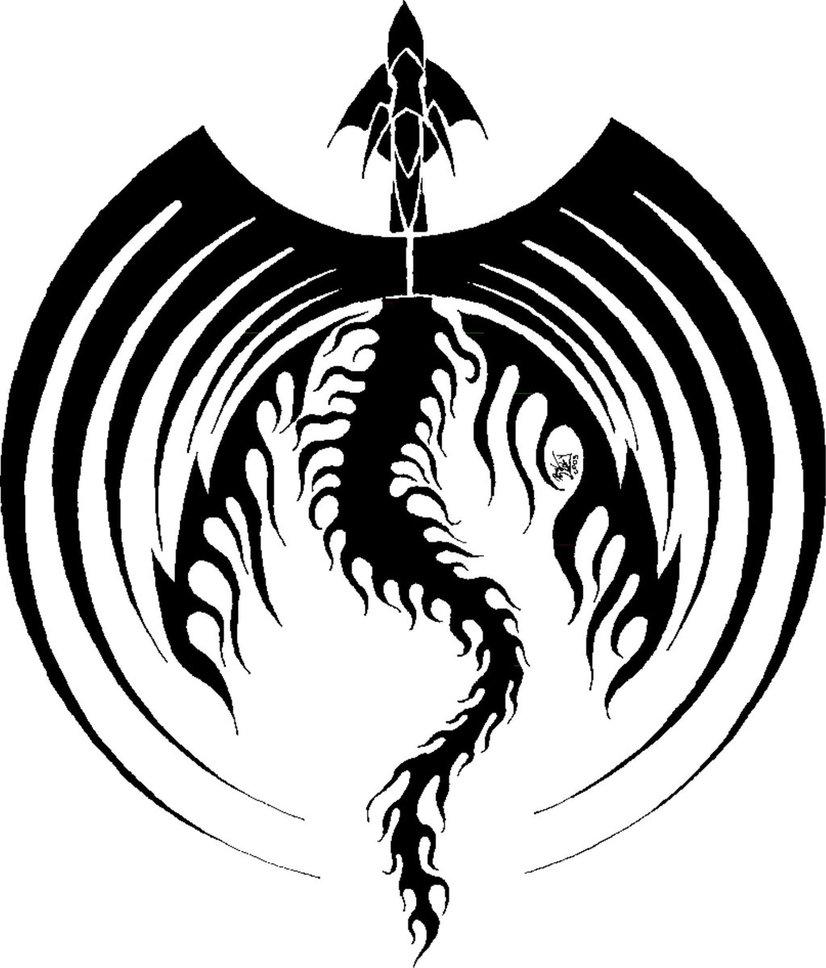 826x968 Black Dragon Icon Symetric By Flipwarddragon