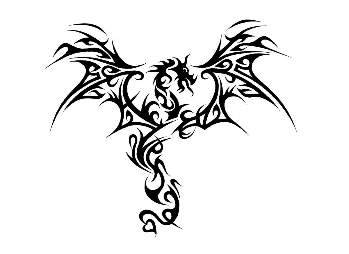 1200x874 15 Black And White Dragon Pictures Collections Black And White