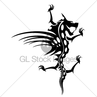 325x325 Dragon Tattoo In Black And White Gl Stock Images