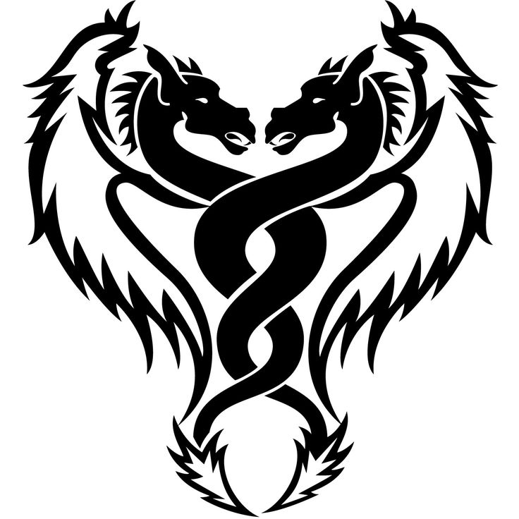 736x736 18 Best Simple Black Dragon Tattoo Designs Images