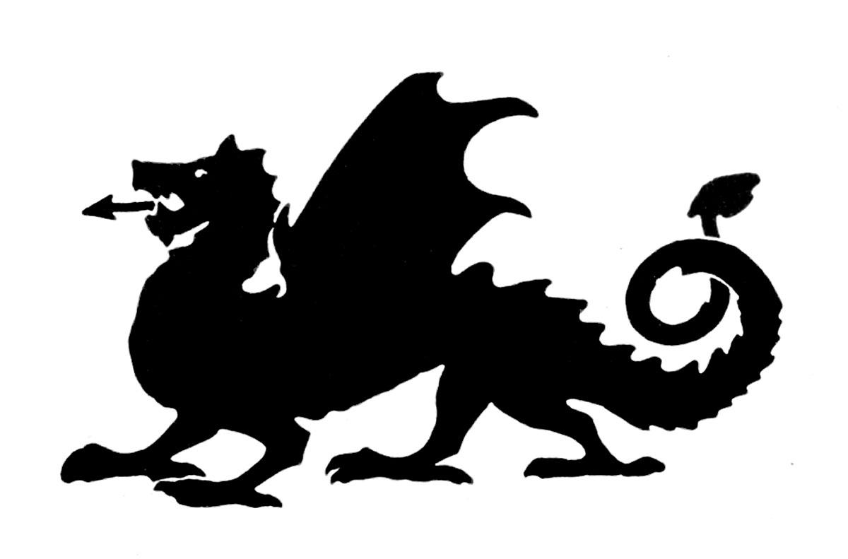 1200x791 Dragon Black And White Clip Art