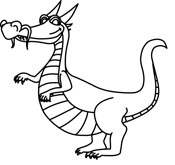 175x165 Dragon Clipart Black And White
