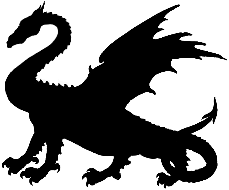 785x651 Medieval Dragon Clipart Black And White