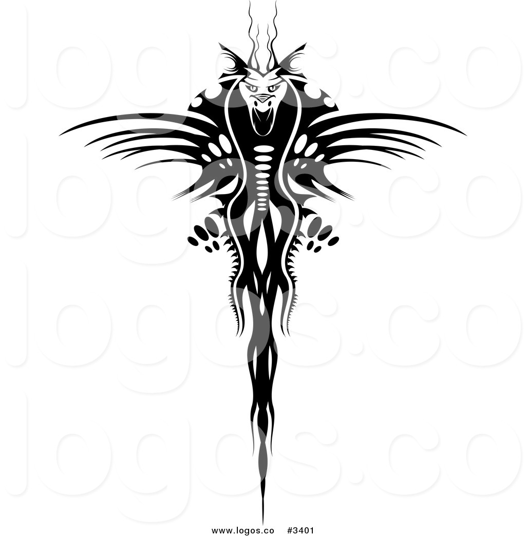 1024x1044 Royalty Free Vector Of A Black Dragon Logo By Vector Tradition Sm