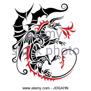 318x320 Chinese Dragon Abstract Black And White Clip Art Isolated On White
