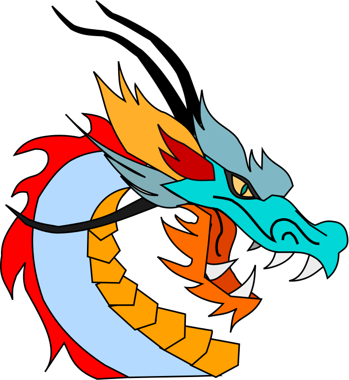 706x768 Asian Dragon Clipart
