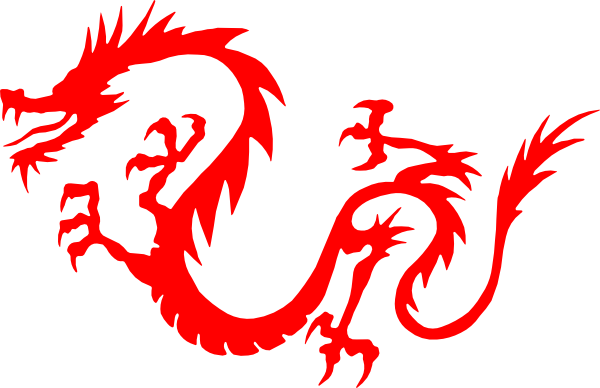 600x388 Dragon Red Clip Art