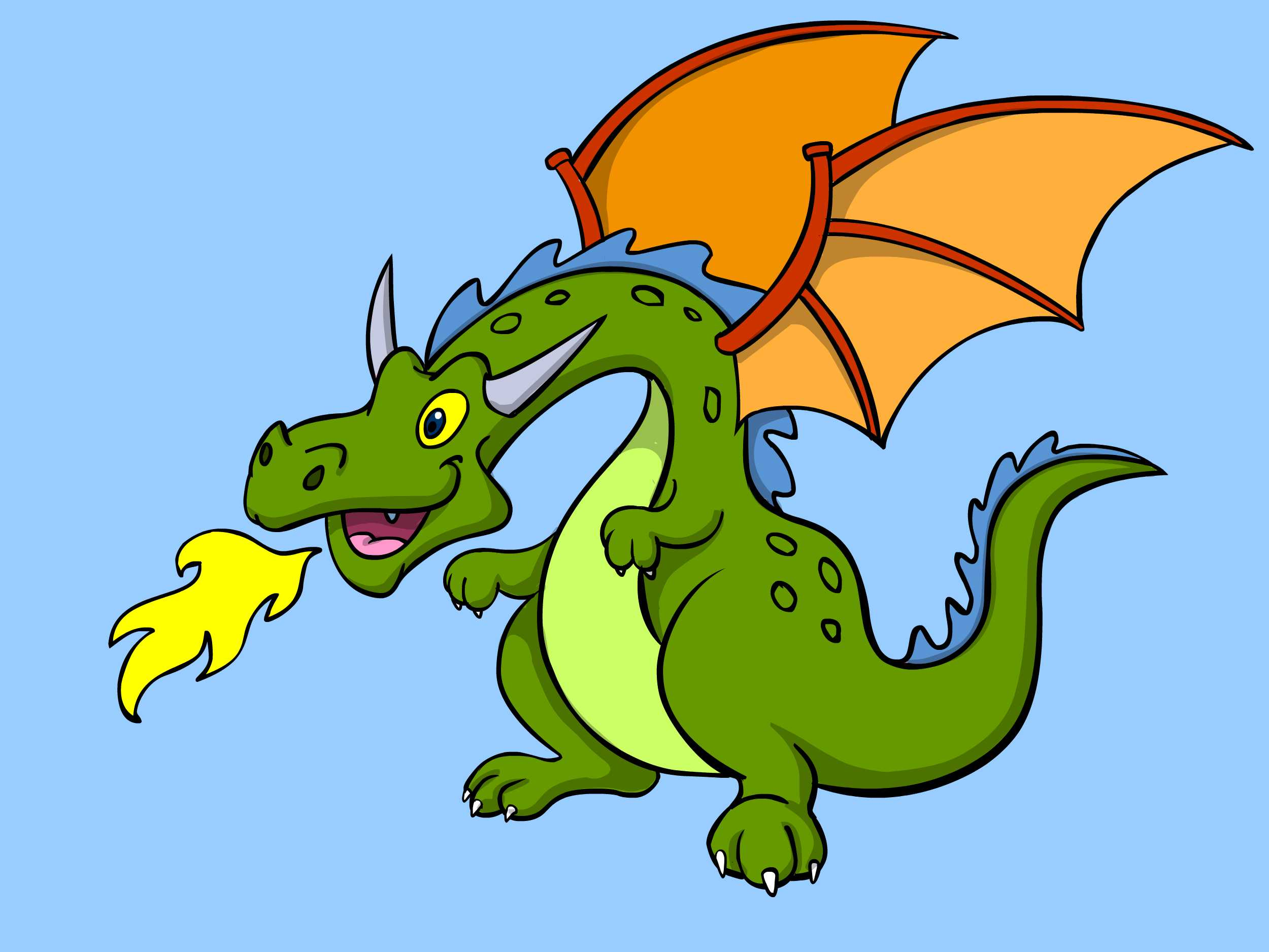 2500x1875 Dragon Clipart Trace
