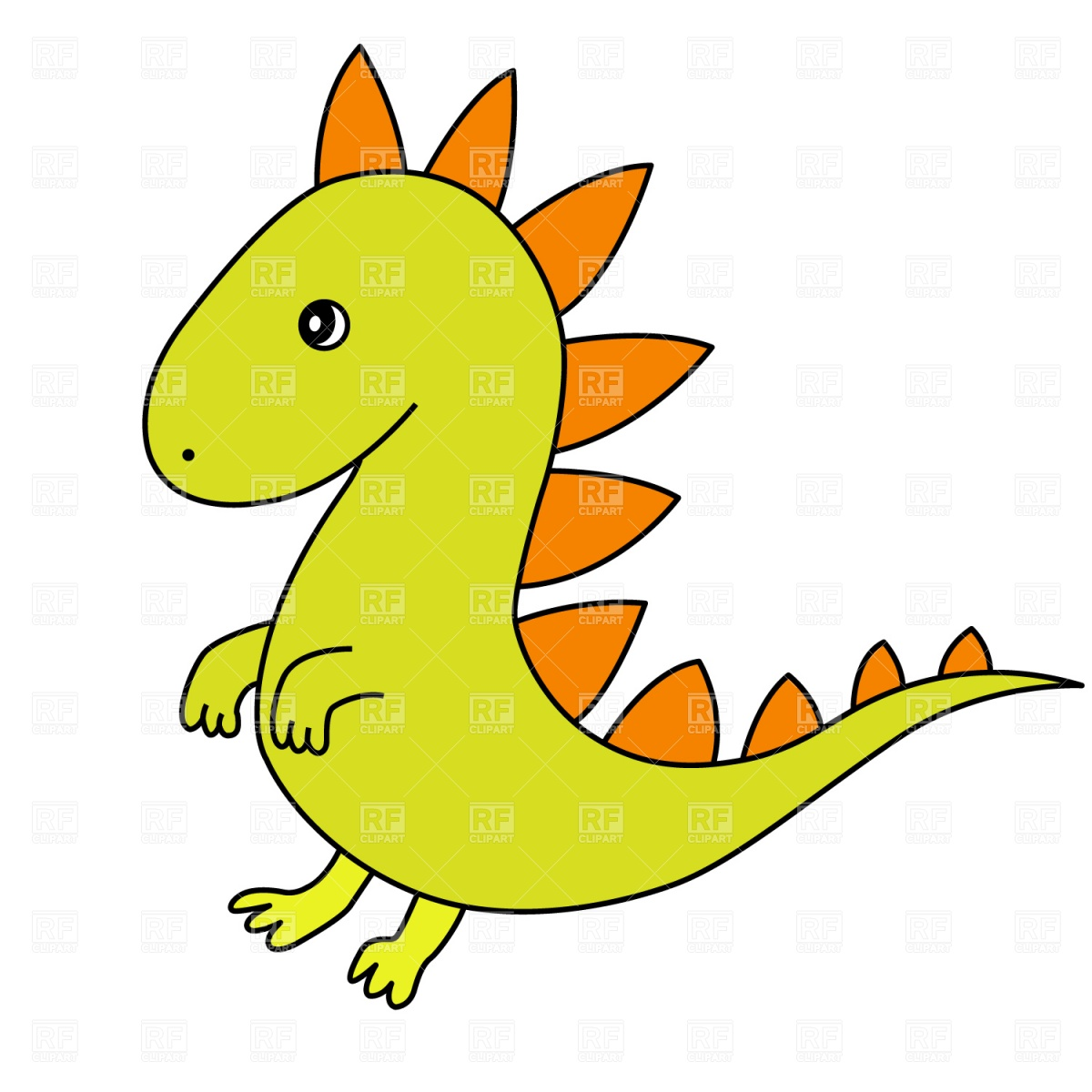 1200x1200 Cartoon Dragon Royalty Free Vector Clip Art Image