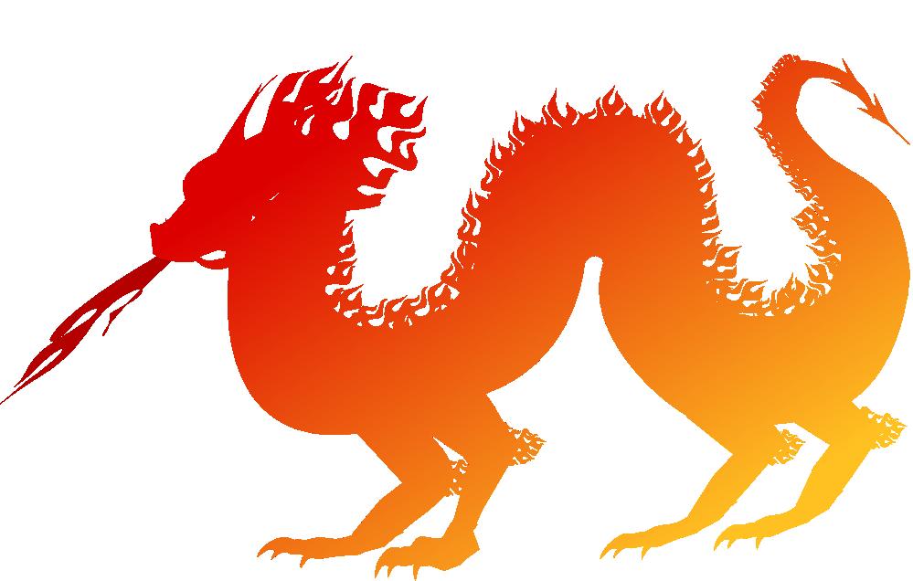 999x636 dragon clip art