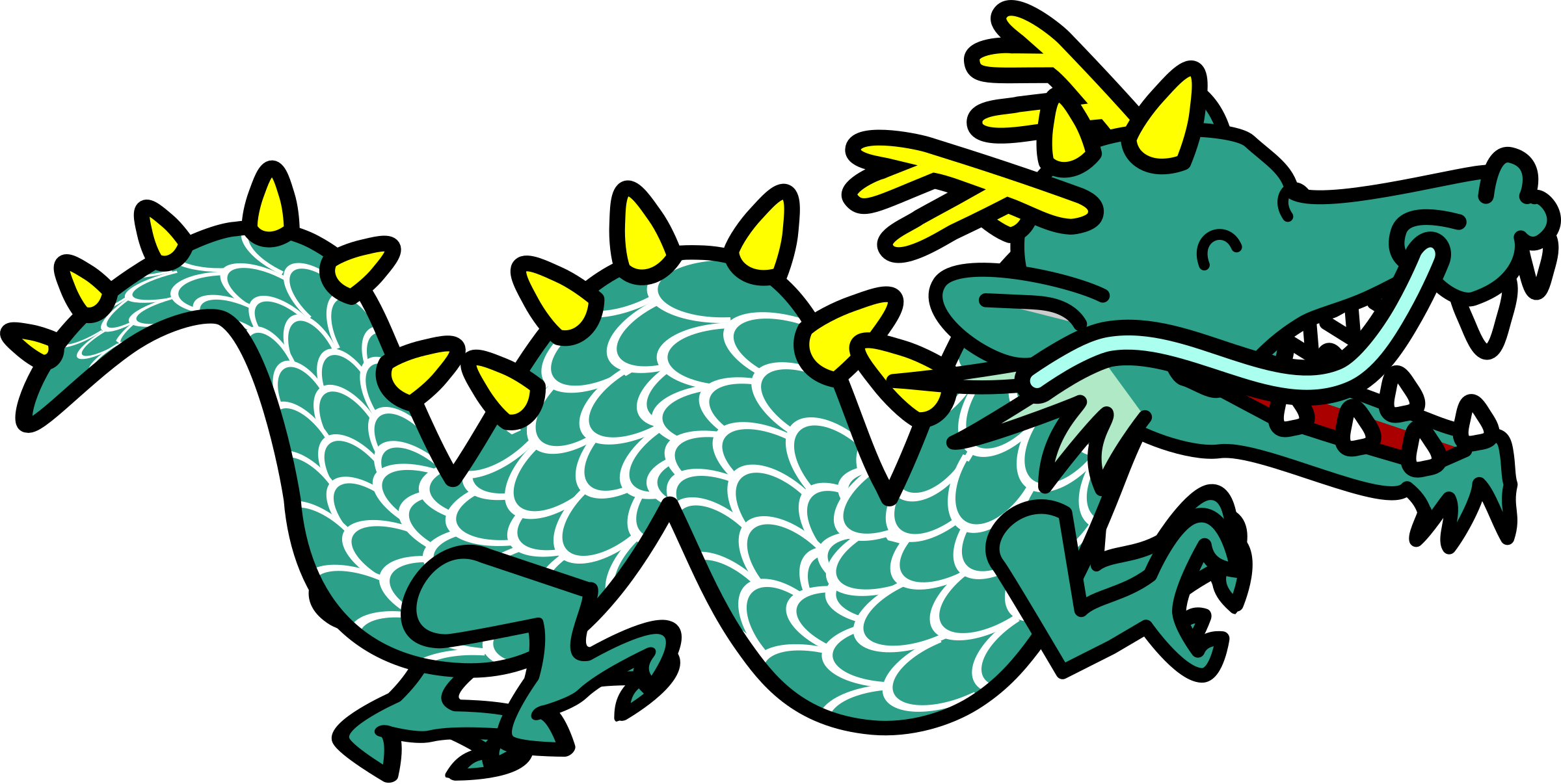 2400x1206 Clipart dragon