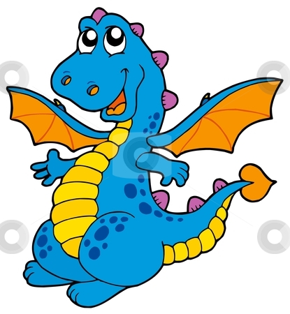 415x450 Cute Dragon Clipart