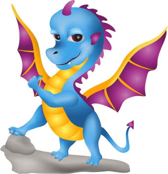 340x351 Cute Dragon Clip Art