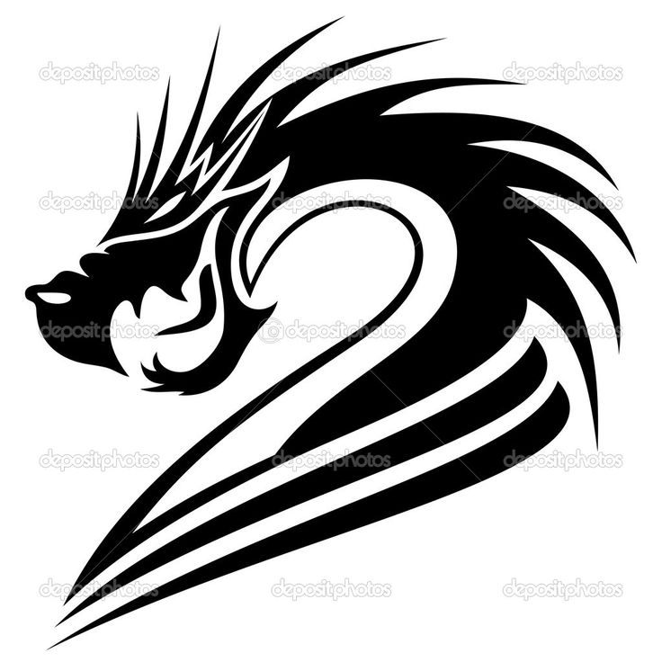 Dragon Clipart Black And White