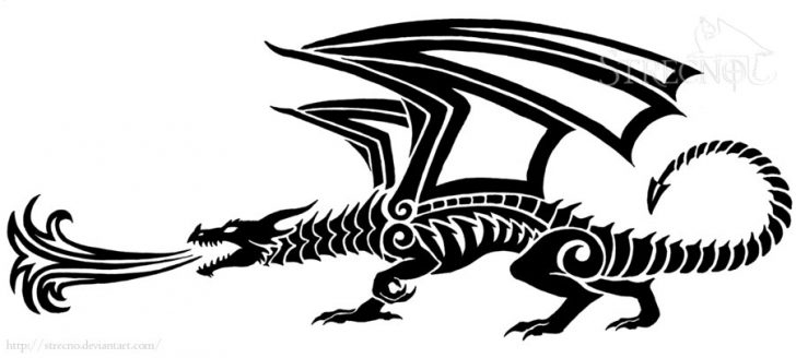 728x328 Fire Breathing Dragon Clipart