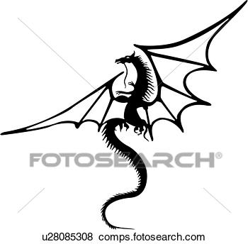 350x344 Images Medieval Dragon Clipart Black And White
