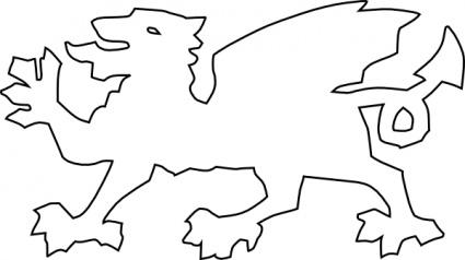 425x238 Welsh Dragon Clip Art Vector, Free Vector Graphics