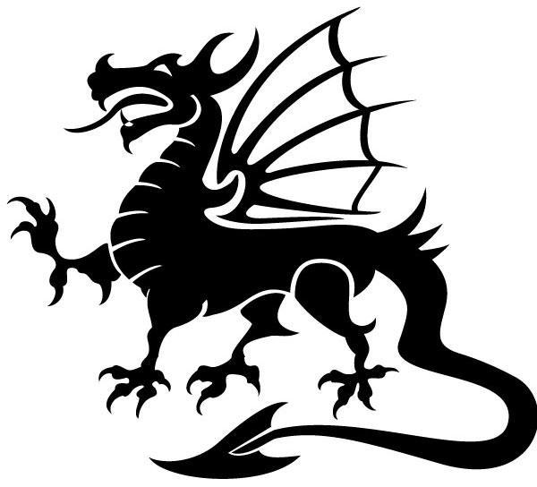 600x544 Black Dragon Clipart