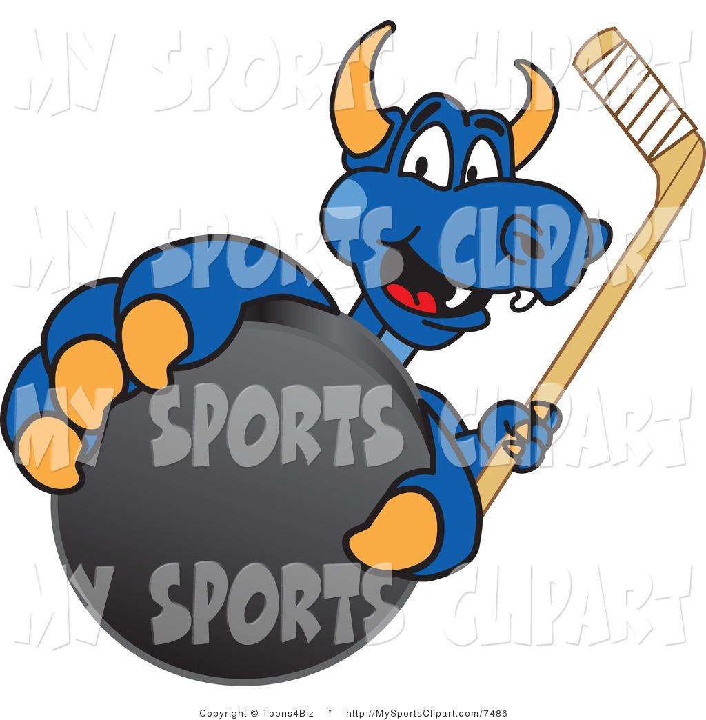 1024x1044 Sports Clip Art Of A Dragon Mascot Grabbing A Hockey Puck By