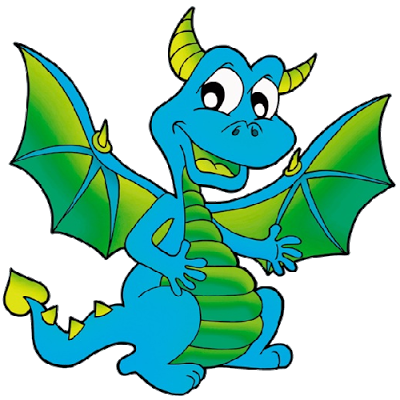 400x400 Cute Dragon Clipart