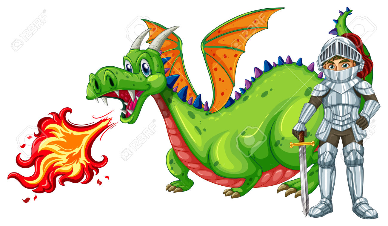 1300x756 Dragon Clipart Knight Dragon