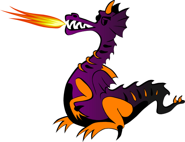 600x460 Flaming Dragon Cliparts