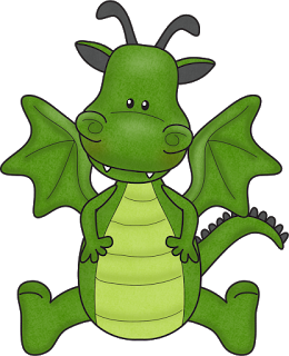 260x320 Little Dragon Clipart