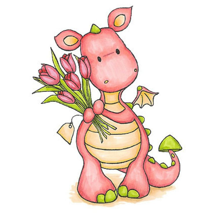 736x736 Pink Cute Dragon Clipart