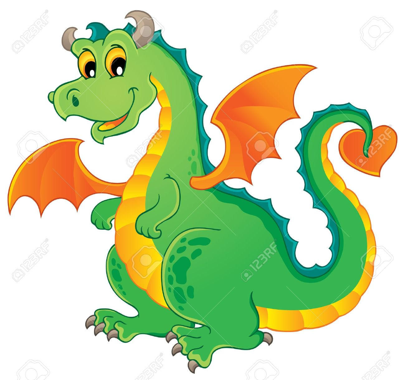 1300x1220 Vector Dragon Clip Art Cliparts