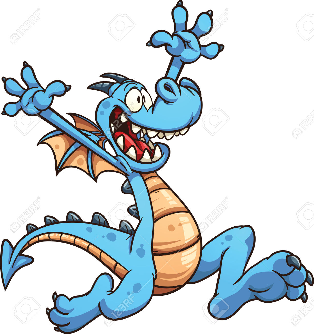 1225x1300 Blue Dragon Clipart