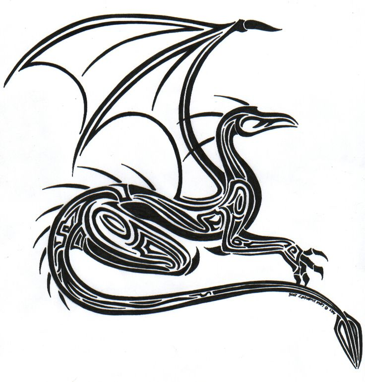 Dragon Drawings Black And White
