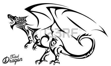 450x271 Celtic Dragon Griffin Black White Clipart