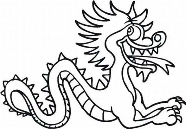 600x417 Drawn Chinese Dragon Cartoon
