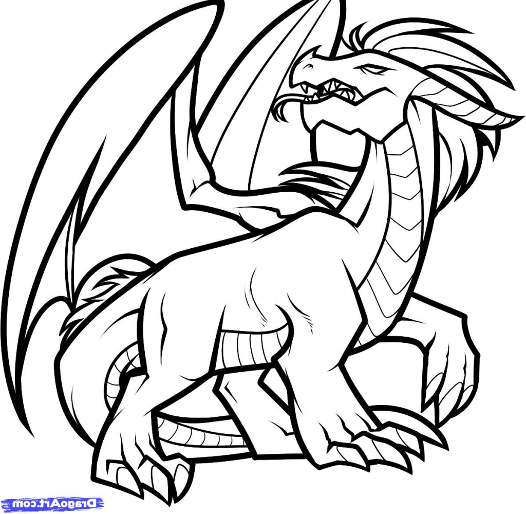1024x1000 Simple Drawing Of A Dragon How To Draw A Simple Dragon Step Step