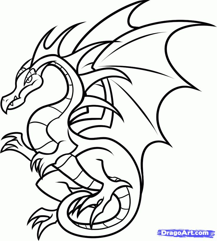 736x815 The Best Easy Dragon Drawings Ideas Easy