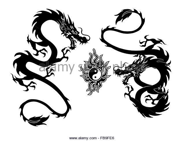 640x488 Tribal Dragon Tattoo Stock Photos Amp Tribal Dragon Tattoo Stock