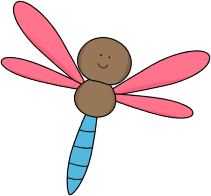 415x386 Pink And Brown Dragonfly Clip Art