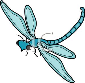300x292 Teal Clipart Dragonfly
