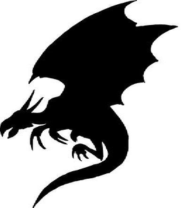 272x300 Dragon Clipart Black And White