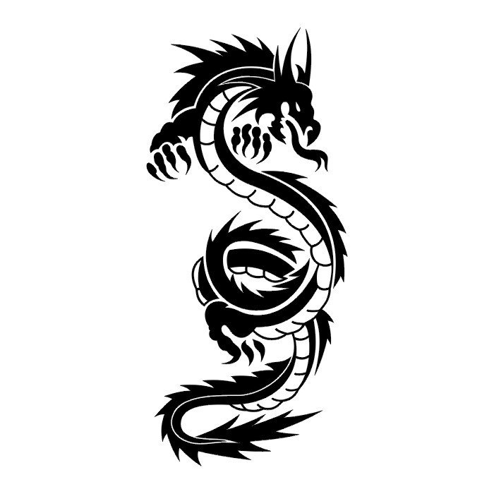 700x700 Dragon Drawings Black And White