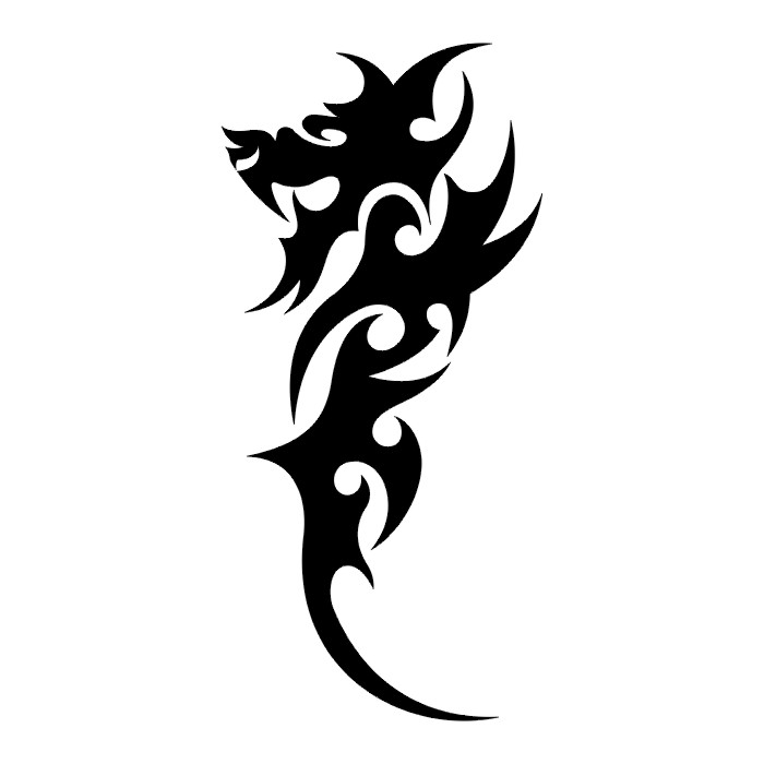700x700 Dragon Pictures Black And White
