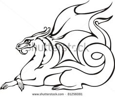 236x199 Eastern Water Dragon Clipart Black And White