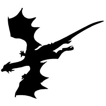 350x350 Protected By Dragons White Decal Car Truck Window