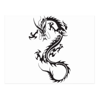 324x324 Black And White Dragon Postcards Zazzle