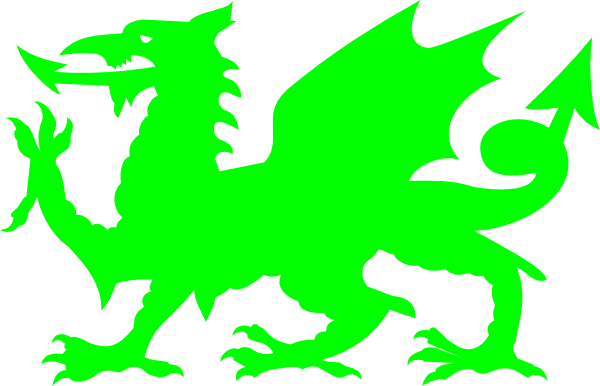 600x386 Welsh Green Dragon Clip Art
